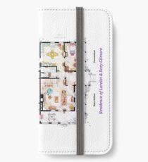 House of Lorelai & Rory Gilmore - Both Floorplans iPhone Wallet/Case/Skin