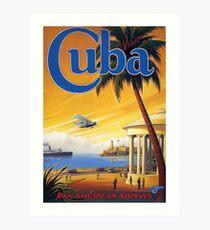 Visit Cuba Pan American Airlines Vintage Travel Poster Art Print