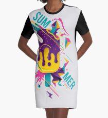 Funky Summer 2018 Graphic T-Shirt Dress