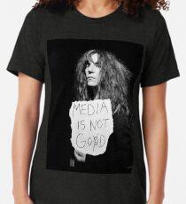 Camiseta de tejido mixto Los medios no son DIOS