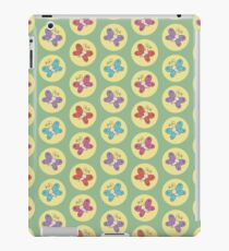 Colourful Whimsical Butterflies Pattern (Green) iPad Case/Skin
