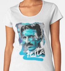 nikola tesla print Women's Premium T-Shirt