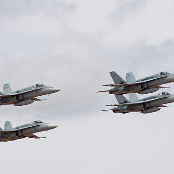 RAAF's F/A-18 Hornets by biawak