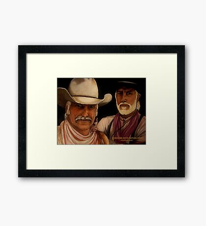 Lonesome Dove- Detail Study Framed Print