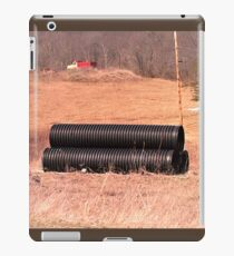 Big Black Pipes in an Abandon Construction Field iPad Case/Skin