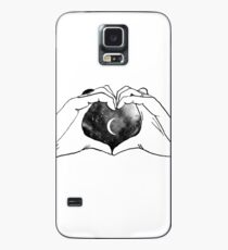 heart moon hands Case/Skin for Samsung Galaxy