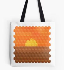 Axonometric Sunset Tote Bag