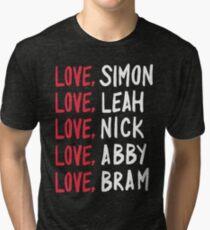 Love, Simon in Black Tri-blend T-Shirt