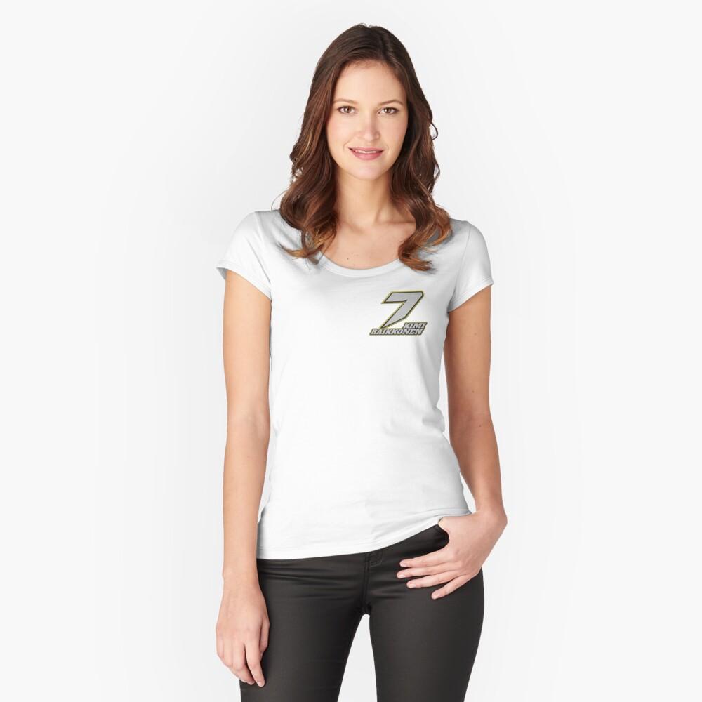Kimi Raikkonen #7 (Formula One Race Number) Women's Fitted Scoop T-Shirt Front