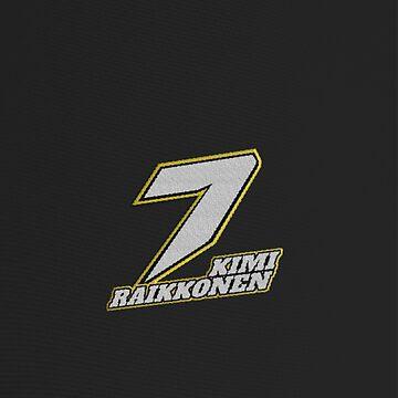 Kimi Raikkonen #7 (Formula One Race Number) by FormulaFans