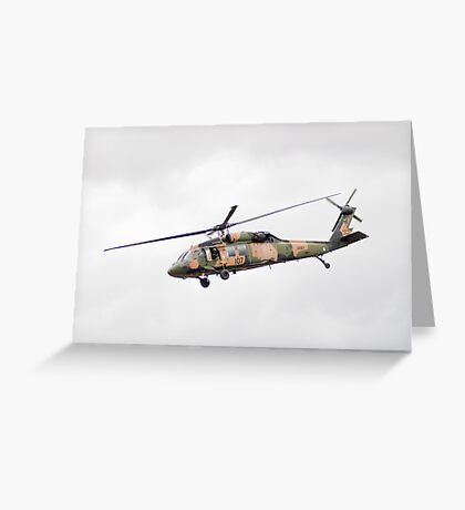 Formidable Blackhawk  Greeting Card