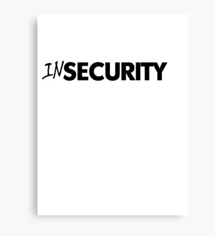 In security - black Canvas Print