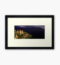 Three Sisters Silhouette Framed Print
