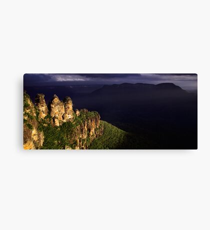 Three Sisters Silhouette Canvas Print