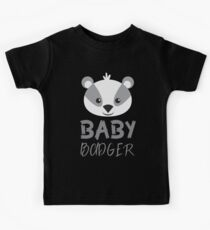 BABY badger (with matching mama badger and papa badger) Kids Tee