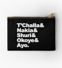 T'Challa and His Team Zipper Pouch