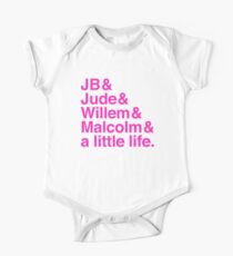 A LITTLE LIFE book JB & Jude & Willem & Malcolm (in pink) One Piece - Short Sleeve