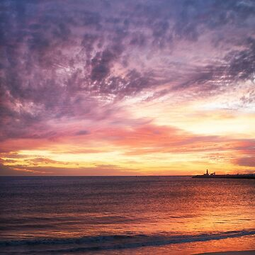 Sunset at Bathers' Beach, Fremantle, W.A. by Sandra