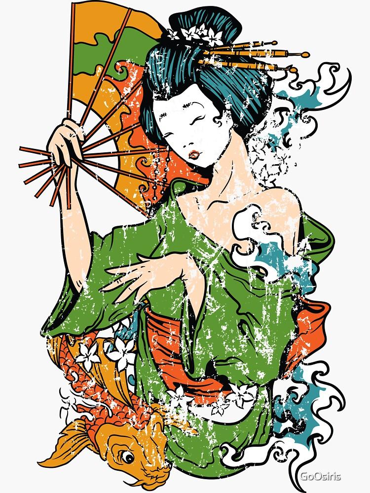 Japanese Art Geisha de GoOsiris