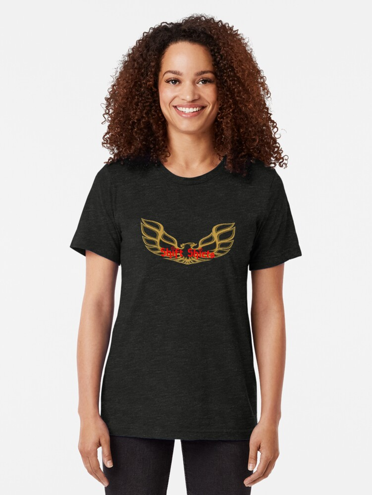 Alternate view of Shift Shirts Thunder Chicken Tri-blend T-Shirt