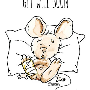 Get well soon Mouse by paintingpanda