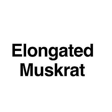 Elongated Muskrat by notbrylee