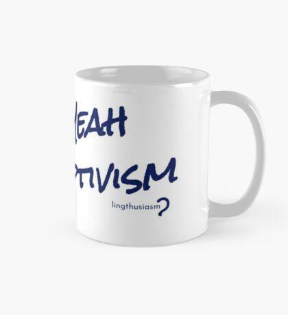 Heck Yeah Descriptivism - Mug in blue on white  Mug