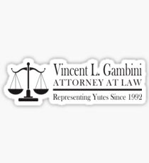 Vincent Gambini Attorney At Law  Sticker