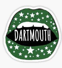 Dartmouth College Lips Sticker