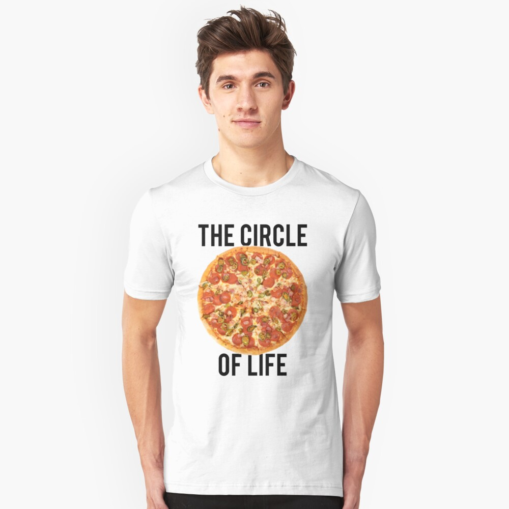 The Circle Of Life Pizza Slim Fit T-Shirt