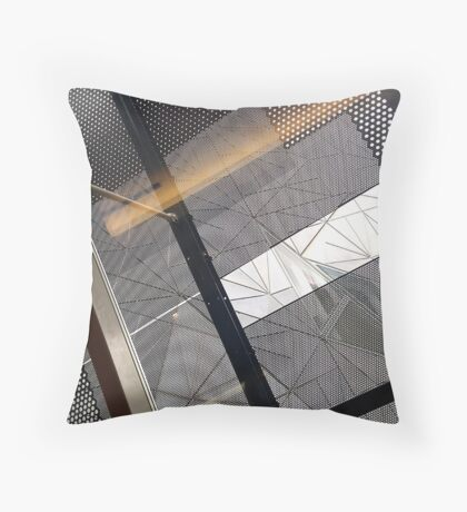 study in line Throw Pillow