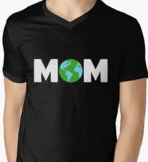 Mother Earth Mom Climate Change Earth Day 2018 Men's V-Neck T-Shirt