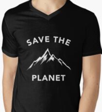 Save The Planet Climate Change Earth Day 2018 Men's V-Neck T-Shirt