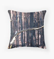 Forest Destruction. Throw Pillow
