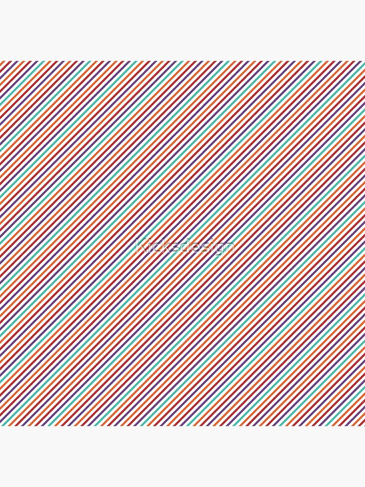 Geometrical violet red orange modern stripes pattern by Kicksdesign