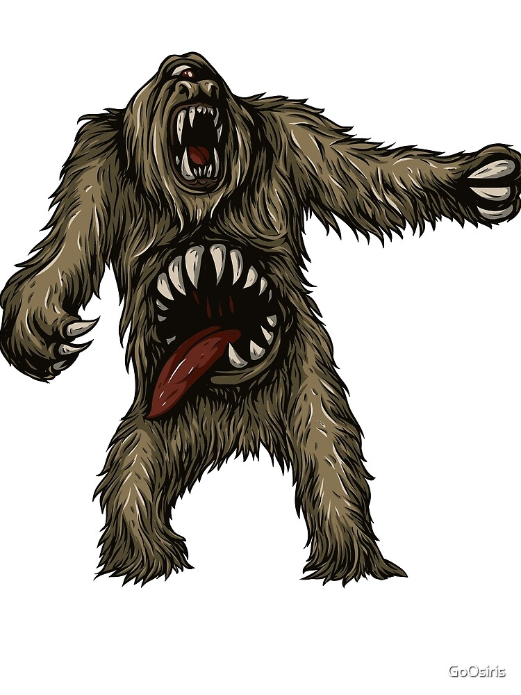 Two Mouthed Yeti Mythical Beast de GoOsiris
