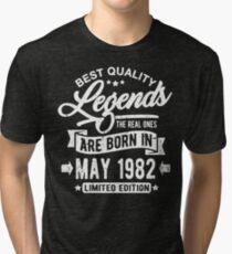 Camiseta de tejido mixto Legends born in may 1982
