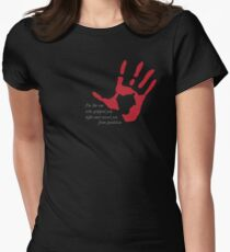 "Hand on Heart - ""I'm the one who gripped you tight and raised you from perdition"" T-Shirt"