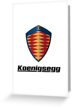 koenigsegg logo greeting cards by the real ones redbubble