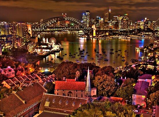 """*Fantasia"""" - Uncut- Sydney Harbour And Skyline - Moods Of A City - THe HDR Experience by Philip Johnson"""