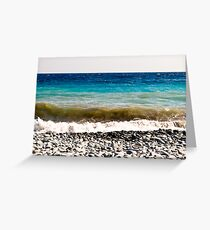 layer-cake-colors of the Mediterranean sea Greeting Card
