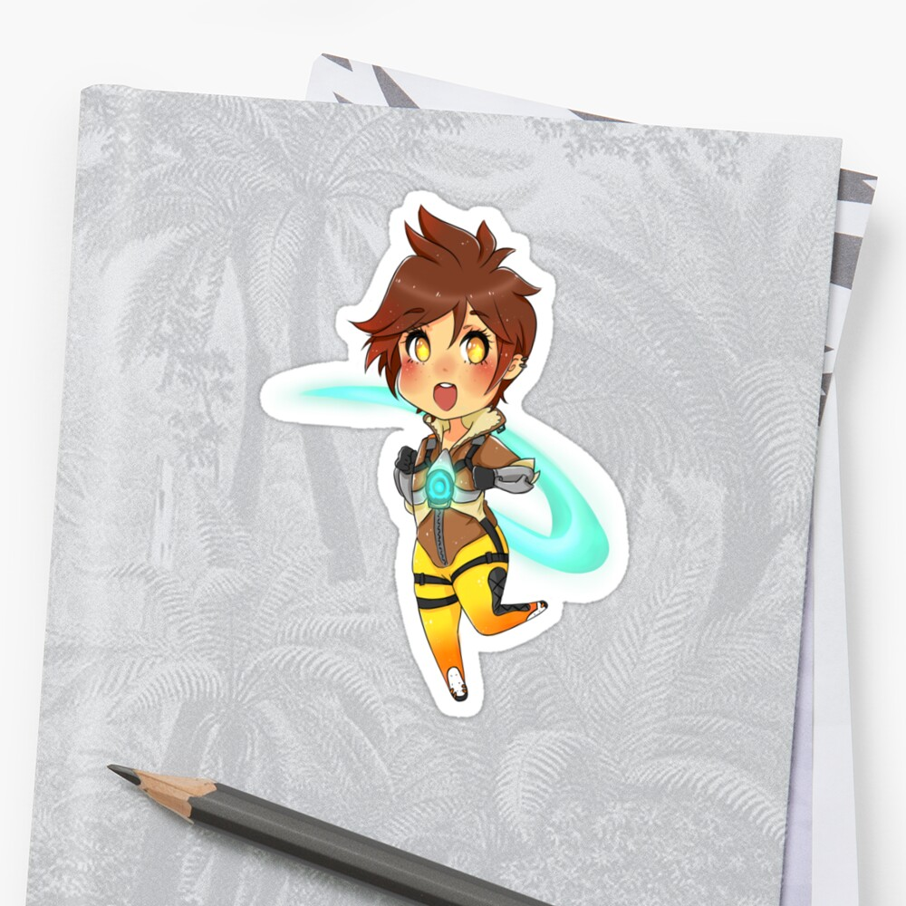 Chibi Zoom Girl Stickers By Kara Baxter Redbubble
