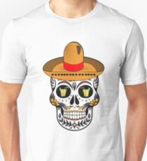 Cute Day Of The Dead Skull - Tequila Eyes Unisex T-Shirt