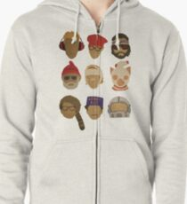 Wes Anderson's Hats Zipped Hoodie