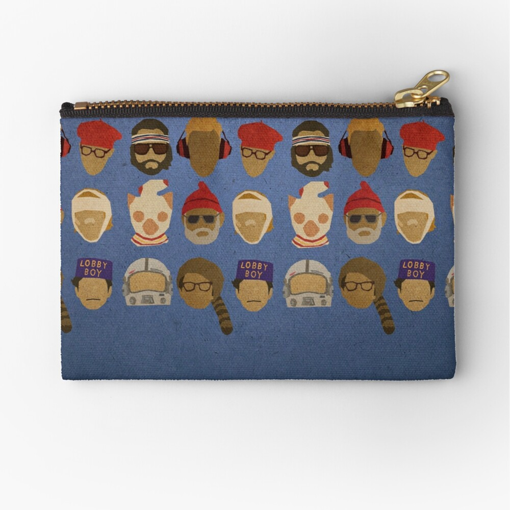 Wes Anderson's Hats Zipper Pouch