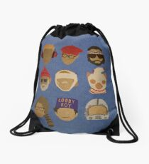 Wes Anderson's Hats Drawstring Bag