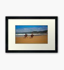 Horses on the beach Framed Print