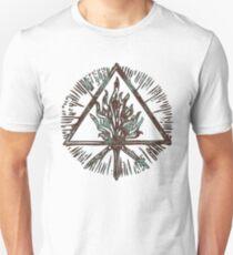 ANCIENT FIRE SYMBOL - aqua grunge ***find hidden gems in my portfolio*** Unisex T-Shirt