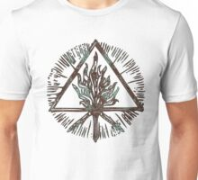 ANCIENT FIRE SYMBOL - aqua grunge Unisex T-Shirt