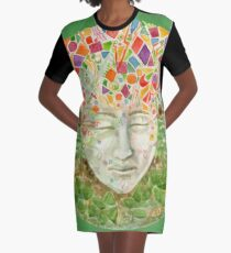Mandala- meditation Graphic T-Shirt Dress